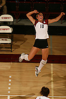 10 November 2005: Kristin Richards during Stanford's 3-0 win over Arizona State at Maples Pavilion in Stanford, CA.