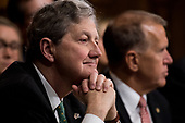 UNITED STATES - SEPTEMBER 27: Sen. John Kennedy, R-La., listens to Christine Blasey Ford testify during the Senate Judiciary Committee hearing on the nomination of Brett M. Kavanaugh to be an associate justice of the Supreme Court of the United States, focusing on allegations of sexual assault by Kavanaugh against Christine Blasey Ford in the early 1980s. (Photo By Tom Williams/CQ Roll Call/POOL)