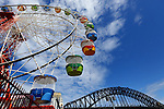 The Ferris Wheel in Sydney's Luna Park. Sydney, Australia. Wednesday 6th June 2012. (Photo Steve Christo)