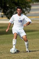 SAN ANTONIO, TX - OCTOBER 30, 2005: The Eastern New Mexico University Greyhounds vs. the St. Mary's University Rattlers Men's Soccer at the St. Mary's Soccer Field. (Photo by Jeff Huehn)