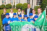 GREEN FLAG: At the launch of Presentation School Tralee's second Green Flag by Kieran Donaghy on Friday were front, l-r: Rebecca McGovern, Alison Moriarty, Cody Rigney, Kate Sheehy, Diellza Baftjari, Jade Griffin. Back, l-r: Adrienne McLoughlin, Elizabeth O'Shea, Aileen Griffin, Sr. Celine O'Callaghan, Kieran Donaghy, Mary Hickson and Patrick Sayers (Principal).   Copyright Kerry's Eye 2008