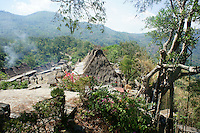 view on village Bena from seaside, Ngada people, Flores, Indonesia