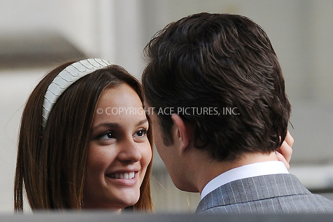 WWW.ACEPIXS.COM . . . . . ....July 13 2009, New York City....Actors Ed Westwick and Leighton Meester on the Upper East Side set of the TV show 'Gossip Girl' on July 13 2009 in New York City....Please byline: KRISTIN CALLAHAN - ACEPIXS.COM.. . . . . . ..Ace Pictures, Inc:  ..tel: (212) 243 8787 or (646) 769 0430..e-mail: info@acepixs.com..web: http://www.acepixs.com