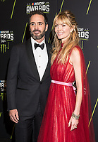 LAS VEGAS, NV - NOVEMBER 30: Jimmie Johnson and Chandra Johnson arriving to the 2017 NASCAR Sprint Cup Awards at The Wynn Hotel & Casino in Las Vegas, Nevada on November 30, 2017. Credit: Damairs Carter/MediaPunch /NortePhoto NORTEPHOTOMEXICO