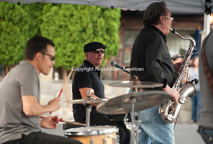 TORRINGTON, CT--- -080615JS04--The Boogie Boys with Nick Longo were the musical entertainment during Torrington's Marketplace on Franklin Street on Thursday. This weeks event hosted public safety vehicles and personnel. <br /> Jim Shannon Republican-American