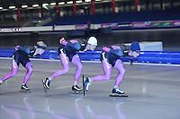 SCHAATSEN: HEERENVEEN: Thialf, 25-06-2012, Zomerijs, Team Beslist.nl, Sjoerd de Vries, Hein Otterspeer, Mark Tuitert, ©foto Martin de Jong