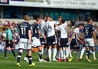 Bolton Wanderers' Filipe Morais congratulated after scoring his sides equalising goal to make the score 1-1<br /> <br /> Photographer Ashley Western/CameraSport<br /> <br /> The EFL Sky Bet Championship - Millwall v Bolton Wanderers - Saturday August 12th 2017 - The Den - London<br /> <br /> World Copyright &not;&copy; 2017 CameraSport. All rights reserved. 43 Linden Ave. Countesthorpe. Leicester. England. LE8 5PG - Tel: +44 (0) 116 277 4147 - admin@camerasport.com - www.camerasport.com