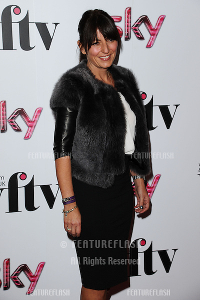 Davina McCall for the Women in Film and Tv Awards 2012 at the Park Lane Hilton, London. 07/12/2012 Picture by: Steve Vas / Featureflash