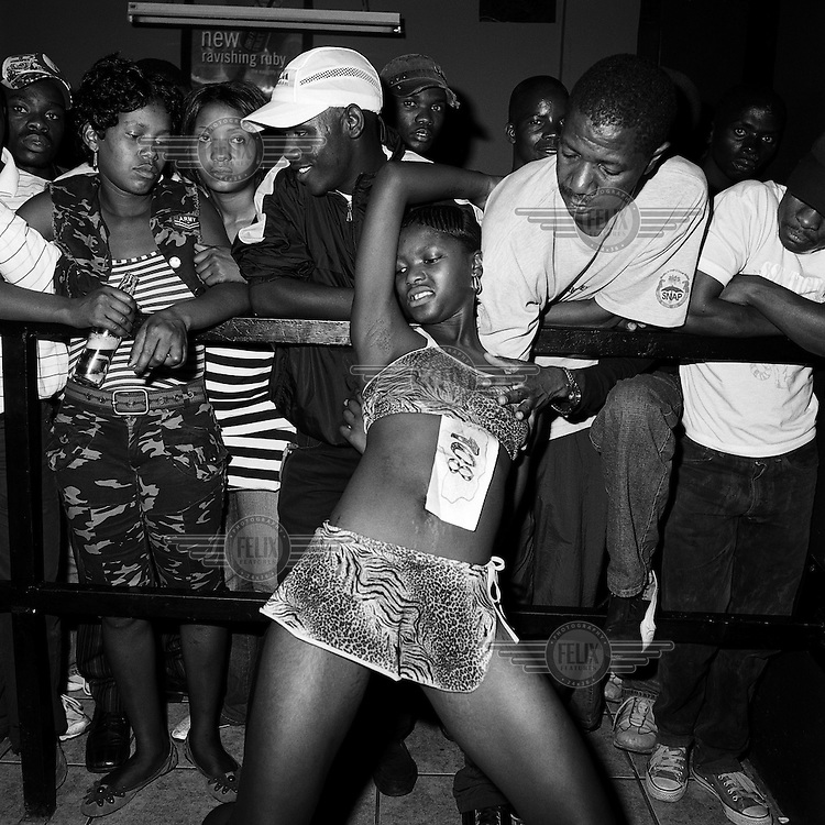 Gladys, an erotic dancer at the Mexican Sports Bar, Hillbrow.