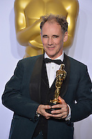 Mark Rylance at the 88th Academy Awards at the Dolby Theatre, Hollywood.<br /> February 28, 2016  Los Angeles, CA<br /> Picture: Paul Smith / Featureflash