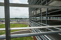 NWA Democrat-Gazette/BEN GOFF @NWABENGOFF<br /> A view from the new parking deck Wednesday, Aug. 8, 2018, at Northwest Arkansas Regional Airport. The four-level deck with 1,110 spaces opened to the public at 10:00 a.m. today. It includes electric vehicle charging stations and a parking guidance system to help drivers find empty spaces. The lighs turn red when a vehicle occupies a space, and handicapped spots have blue lights.
