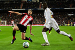 Ferland Mendy of Real Madrid Yeray Alvarez of Athletic Club during La Liga match between Real Madrid and Athletic Club de Bilbao at Santiago Bernabeu Stadium in Madrid, Spain. December 22, 2019. (ALTERPHOTOS/A. Perez Meca)