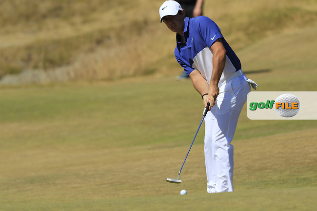 Rory MCILROY (NIR) takes his putt on the 17th green during Sunday's Final Round of the 2015 U.S. Open 115th National Championship held at Chambers Bay, Seattle, Washington, USA. 6/21/2015.<br /> Picture: Golffile | Eoin Clarke<br /> <br /> <br /> <br /> <br /> All photo usage must carry mandatory copyright credit (&copy; Golffile | Eoin Clarke)