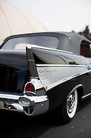 1957 Trailered Restored Senior (#37) – 1957 Chevrolet Bel Air Convertible registered to Bob Thompson is pictured during 4th State Representative Chevy Show on Saturday, July 2, 2016, in Fort Wayne, Indiana. (Photo by James Brosher)