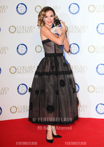 Amanda Holden arriving for the Collars And Coats Ball, at Battersea Evolution, London. 07/11/2013 Picture by: Alexandra Glen / Featureflash
