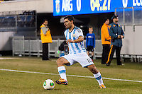 Argentina forward Sergio Aguero (10). Argentina and Ecuador played to a 0-0 tie during an international friendly at MetLife Stadium in East Rutherford, NJ, on November 15, 2013.