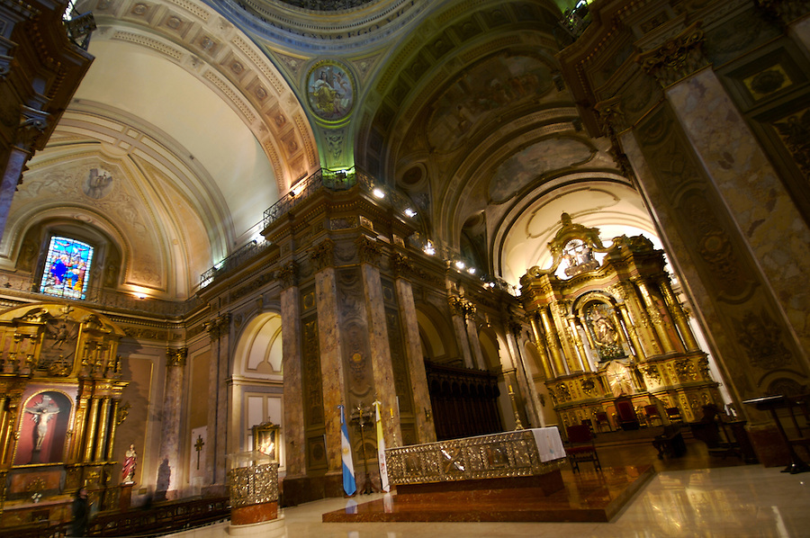 View of Altar in the Buenos Aires Cathedral.