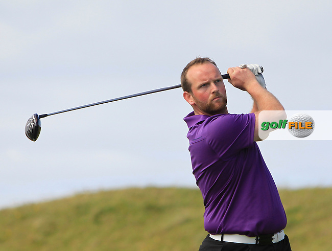 Simon Bryan (Delgany) on the 14th tee during Round 2 of the South of Ireland Amateur Open Championship at LaHinch Golf Club on Thursday 23rd July 2015.<br /> Picture:  Golffile | Thos Caffrey