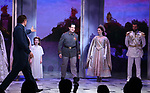 Ramin Karimloo and cast during Broadway Opening Night Performance Curtain Call bows for 'Anastasia' at the Broadhurst Theatre on April 24, 2017 in New York City.