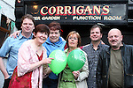 """Catriona Dillon, Petra Conway and Olive Smith with Barry and Glenn Loughran from the Band """"Chill"""" and Dominic Fagan from """"Shift Rate"""" at the Charity Music Night in Aid of the Samaritans in Corrigans...Photo NEWSFILE/Jenny Matthews.(Photo credit should read Jenny Matthews/NEWSFILE)....This Picture has been sent you under the condtions enclosed by:.Newsfile Ltd..The Studio,.Millmount Abbey,.Drogheda,.Co Meath..Ireland..Tel: +353(0)41-9871240.Fax: +353(0)41-9871260.GSM: +353(0)86-2500958.email: pictures@newsfile.ie.www.newsfile.ie.FTP: 193.120.102.198."""