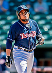 18 July 2018: New Hampshire Fisher Cats designated hitter Juan Kelly in action against the Trenton Thunder at Northeast Delta Dental Stadium in Manchester, NH. The Thunder defeated the Fisher Cats 3-2 concluding a previous game started April 29. Mandatory Credit: Ed Wolfstein Photo *** RAW (NEF) Image File Available ***