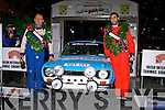 Shane Buckley Killarney right and Denis Moynihan Cork who were runners up at the Killarney Historic rally with their Ford Escort Mk1 in Killarney on Saturday