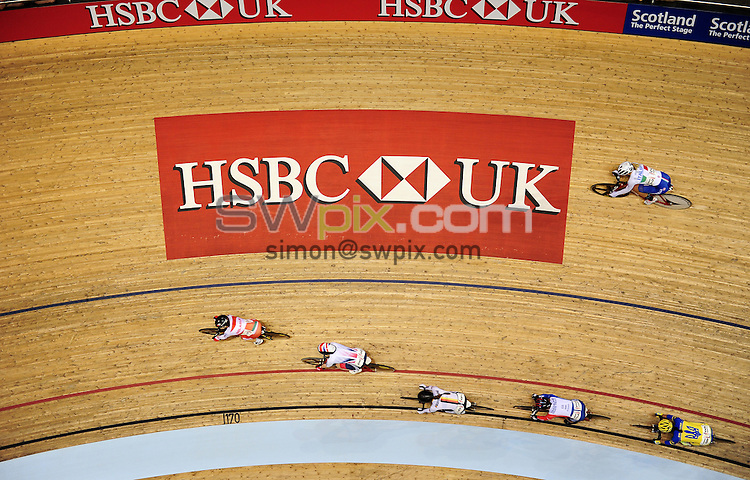 Picture by Alex Broadway/SWpix.com - 06/11/2016 - Cycling - 2016 UCI Track Cycling World Cup, Day 3 - Sir Chris Hoy Velodrome, Glasgow, United Kingdom - HSBC UK branding