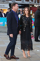 Christian Horner &amp; wife Geri Halliwell at the opening night gala of The Rolling Stones' &quot;Exhibitionism&quot; at the Saatchi Gallery. <br /> April 4, 2016  London, UK<br /> Picture: James Smith / Featureflash