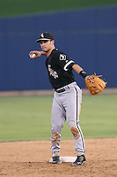 Eddy Alvarez #1 of the AZL White Sox during a game against the AZL Brewers at the Maryvale Baseball Complex on July 11, 2014 in Phoenix, Arizona. AZL Brewers defeated the AZL White Sox, 6-4. (Larry Goren/Four Seam Images)