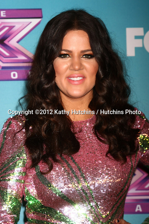 LOS ANGELES - DEC 20:  Khloe Kardashian Odom at the 'X Factor' Season Finale at CBS Television City on December 20, 2012 in Los Angeles, CA
