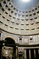 Interior view of the Pantheon, Rome, Italy