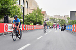Riders recon the course before Stage 1 of the 101st edition of the Giro d'Italia 2018 an individual time trial of 9.7km around Jerusalem, Israel. 4th May 2018.<br /> Picture: LaPresse/Massimo Paolone | Cyclefile<br /> <br /> <br /> All photos usage must carry mandatory copyright credit (&copy; Cyclefile | LaPresse/Massimo Paolone)