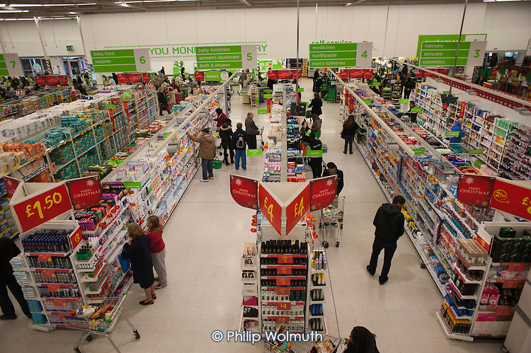 Asda supermarket, Clapham Junction, London.