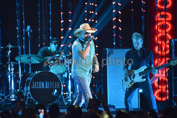 10 June 2015 - Nashville, Tennessee - Jason Aldean. 2015 CMT Music Awards held at Bridgestone Arena. Photo Credit: Laura Farr/AdMedia