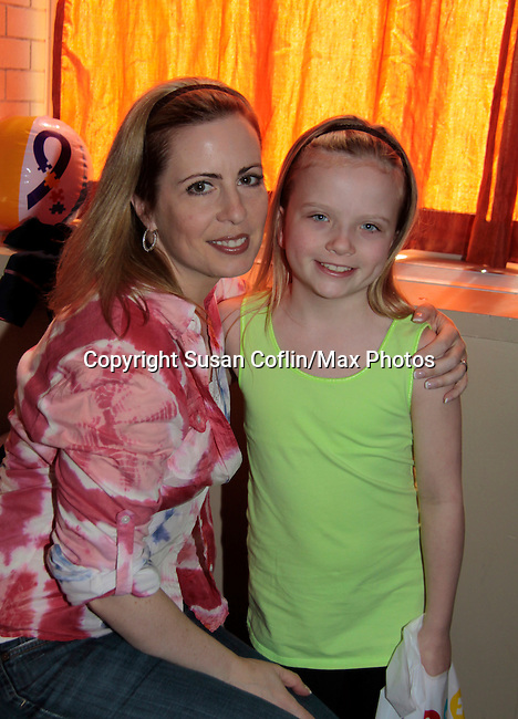 Martha Bryne & daughter Annmarrie - 11th Annual Daytime Stars & Strikes Event for Autism - 2015 on April 19, 2015 hosted by Guiding Light's Jerry ver Dorn (& OLTL) and Liz Keifer at Bowlmor Lanes Times Square, New York City, New York. (Photos by Sue Coflin/Max Photos)