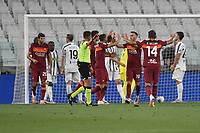 Nikola Kalinic of Roma celebrates after scoring a goal during the Serie A football match between Juventus FC and AS Roma at Juventus stadium in Turin (Italy), August 1st, 2020. Play resumes behind closed doors following the outbreak of the coronavirus disease. Photo Andrea Staccioli / Insidefoto