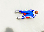 6 February 2009: Natalia Khoreva from Russia slides through a curve in the Women's Competition at the 41st FIL Luge World Championships, in Lake Placid, New York, USA. .  .Mandatory Photo Credit: Ed Wolfstein Photo