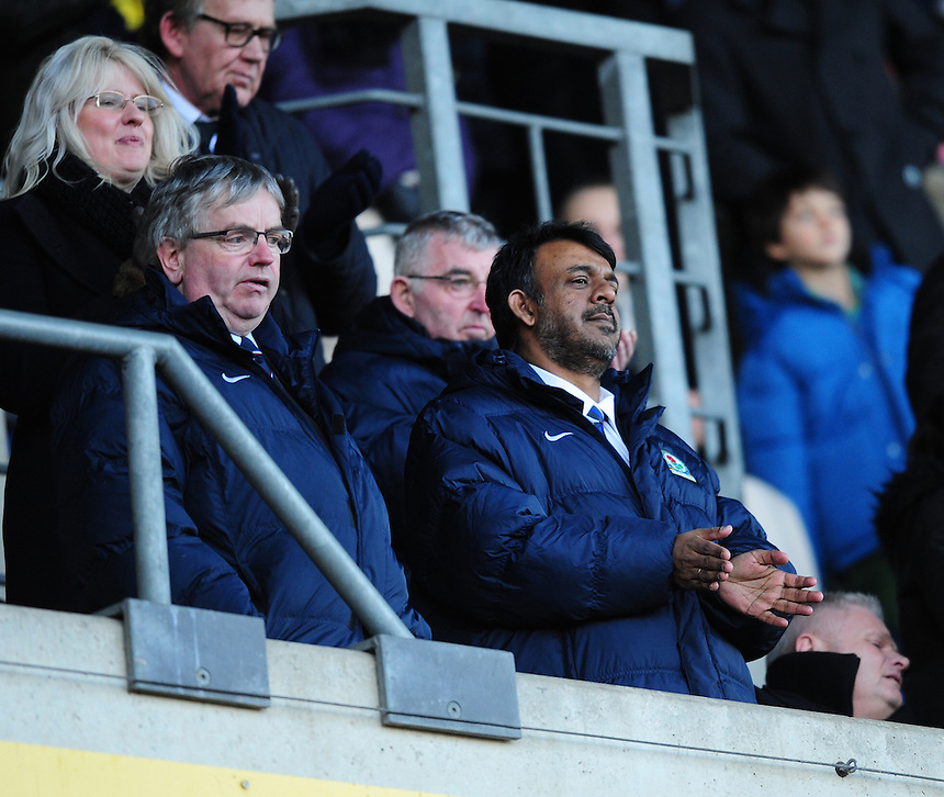 Pictured is Blackburn Rovers' managing director Derek Shaw, left, and advisor Suhail Pascha <br /> <br /> Photographer Chris Vaughan/CameraSport<br /> <br /> Football - The FA Cup Fourth Round - Oxford United v Blackburn Blackburn Rovers  - Saturday 30th January 2016 - Kassam Stadium - Oxford<br /> <br /> &copy; CameraSport - 43 Linden Ave. Countesthorpe. Leicester. England. LE8 5PG - Tel: +44 (0) 116 277 4147 - admin@camerasport.com - www.camerasport.com