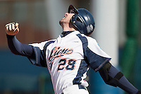 18 April 2010: Pierrick Le Mestre of Savigny is seen at bat during game 1/week 2 of the French Elite season won 8-1 by Savigny (Lions) over Senart (Templiers), at Parc municipal des sports Jean Moulin in Savigny-sur-Orge, France.