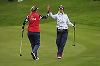 Jessica Korda of Team USA on the 2nd green during Day 2 Foursomes at the Solheim Cup 2019, Gleneagles Golf CLub, Auchterarder, Perthshire, Scotland. 14/09/2019.<br /> Picture Thos Caffrey / Golffile.ie<br /> <br /> All photo usage must carry mandatory copyright credit (© Golffile | Thos Caffrey)
