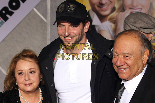 "BRADLEY COOPER & guests .""When In Rome"" Los Angeles Premiere - Arrivals held at The El Capitan Theater, Hollywood, CA, USA, .27th January 2010..portrait headshot  cap hat black white beard stubble facial hair smiling .CAP/ADM/CH.©Charles Harris/AdMedia/Capital Pictures"