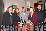 Chernobyl Children Fundraising  Quiz : Taking part in the Chernobyl Children's fundraiing quiz at Lowe's Bar, Ballyduff  on Saturday night last were Cecelia Carroll, Ita Lynch, Martin Lynch, Marie Theresa Healy & PJ Caroll.