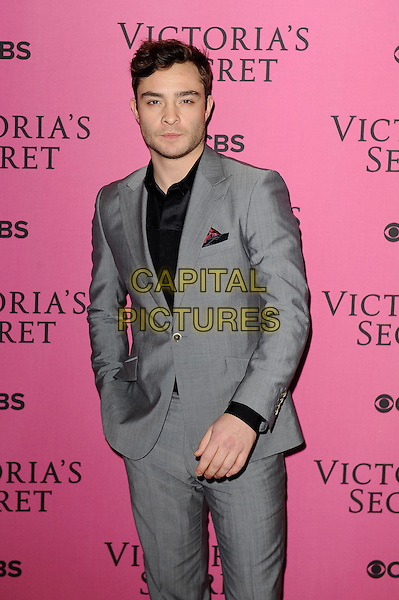 LONDON, ENGLAND - DECEMBER 2: Ed Westwick attends the pink carpet for Victoria's Secret Fashion Show 2014, Earls Court on December 2, 2014 in London, England.<br /> CAP/MAR<br /> &copy; Martin Harris/Capital Pictures