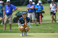 So Yeon Ryu (KOR) lines up her putt on 2 during round 3 of the 2018 KPMG Women's PGA Championship, Kemper Lakes Golf Club, at Kildeer, Illinois, USA. 6/30/2018.<br /> Picture: Golffile | Ken Murray<br /> <br /> All photo usage must carry mandatory copyright credit (&copy; Golffile | Ken Murray)
