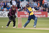 Tom Westley drives through the covers during Essex Eagles vs Somerset, Vitality Blast T20 Cricket at The Cloudfm County Ground on 7th August 2019