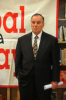"Mayor Richard M. Daley attends a press conference for his ""Principal for a Day"" program of corporate sponsorship and volunteerism in the Chicago Public Schools at Talcott Elementary School, 1840 W. Ohio St., in Chicago, Illinois on October 17, 2008."