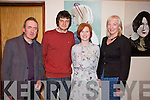 Enjoying 'Effigy' the first solo art exhibition by Evelyn Murphy in The Glorach Theatre, Abbeyfeale on Saturday were L-R: Liam Flynn, Lorcan Curtin, Evelyn Murphy and Mary Shanahan, Abbeyfeale.