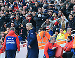 Arsenal's fans look on dejected during the Emirates FA Cup match at The Emirates Stadium.  Photo credit should read: David Klein/Sportimage