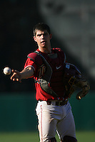Robert Stock of the USC Trojans during game against the  Western Carolina Catamounts at Dedeaux Field in Los Angeles,CA.  Photo by Larry Goren/Four Seam Images