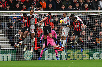 Players battles for possession in front of the Liverpool goal<br /> <br /> Photographer David Horton/CameraSport<br /> <br /> The Premier League - Bournemouth v Liverpool - Saturday 8th December 2018 - Vitality Stadium - Bournemouth<br /> <br /> World Copyright © 2018 CameraSport. All rights reserved. 43 Linden Ave. Countesthorpe. Leicester. England. LE8 5PG - Tel: +44 (0) 116 277 4147 - admin@camerasport.com - www.camerasport.com